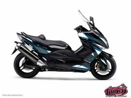Graphic Kit Maxiscoot Velocity Yamaha TMAX 500 Blue