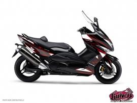 Graphic Kit Maxiscoot Velocity Yamaha TMAX 500 Red