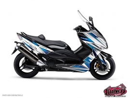 Graphic Kit Maxiscooter Velocity Yamaha TMAX 530 White Blue