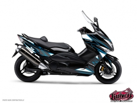 Graphic Kit Maxiscooter Velocity Yamaha TMAX 530 Blue