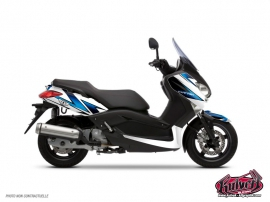 Graphic Kit Maxiscooter Velocity Yamaha XMAX 125 White Blue