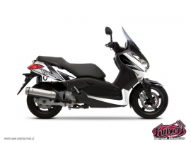 Graphic Kit Maxiscooter Velocity Yamaha XMAX 125 White Black