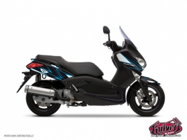 Graphic Kit Maxiscooter Velocity Yamaha XMAX 125 Blue
