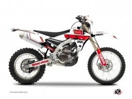 Yamaha 250 WRF Dirt Bike VINTAGE YAMAHA Graphic kit Red