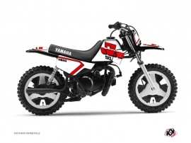 Graphic Kit Dirt Bike Vintage Yamaha PW 50 Red