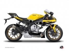Yamaha R1 Street Bike  Vintage Graphic Kit Yellow