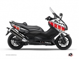 Graphic Kit Maxiscooter Vintage Yamaha TMAX 500 Red