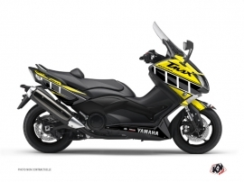Graphic Kit Maxiscooter Vintage Yamaha TMAX 530 Yellow