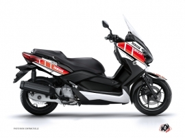 Graphic Kit Maxiscooter Vintage Yamaha XMAX 400 Red