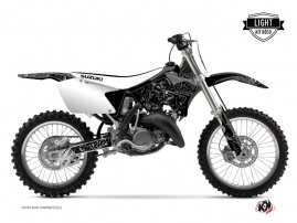 Suzuki 125 RM Dirt Bike Zombies Dark Graphic Kit Black LIGHT