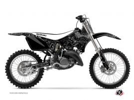 Suzuki 125 RM Dirt Bike Zombies Dark Graphic Kit Black