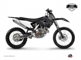 Graphic Kit Dirt Bike Zombies Dark Husqvarna TC 250 Black LIGHT