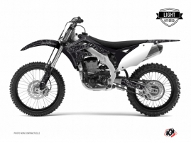 Kawasaki 250 KXF Dirt Bike Zombies Dark Graphic Kit Black LIGHT