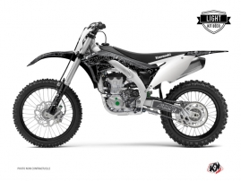 Kawasaki 450 KXF Dirt Bike ZOMBIES DARK Graphic kit Black LIGHT