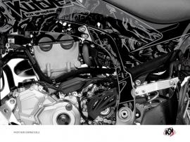 Graphic Kit Frame protection ATV Zombies Dark Yamaha 450 YFZ-R 2014-2016 Black