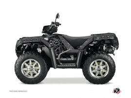 Polaris 500-800 Sportsman Forest ATV ZOMBIES DARK Graphic kit Black