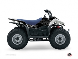 Graphic Kit ATV Zombies Dark Suzuki 80 LT Black