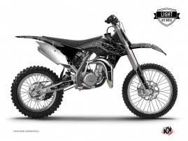 Graphic Kit Dirt Bike Zombies Dark KTM 85 SX Black LIGHT