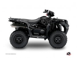 Graphic Kit ATV Zombies Dark Suzuki King Quad 400 Black
