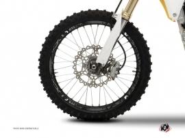Graphic Kit Wheel decals Dirt Bike Zombies Dark Black