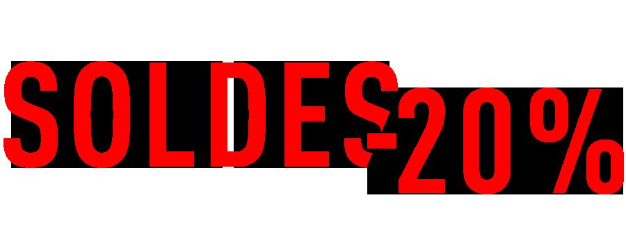 Soldes -20 %