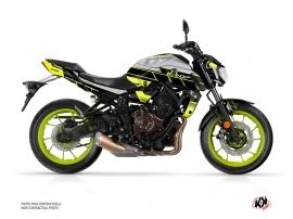 Yamaha MT 07 Street Bike Conquer Graphic Kit Yellow