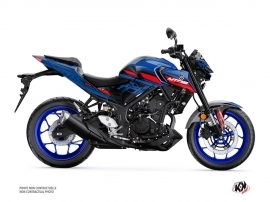 Yamaha MT 03 Street Bike Channel Graphic Kit Blue