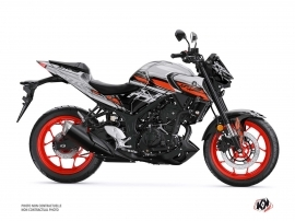 Yamaha MT 03 Street Bike Channel Graphic Kit Grey
