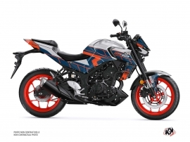 Yamaha MT 03 Street Bike Conquer Graphic Kit Grey