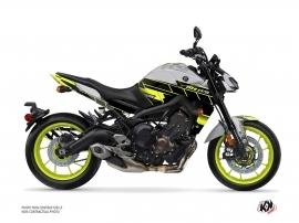 Kit Déco Moto Conquer Yamaha MT 09 Jaune