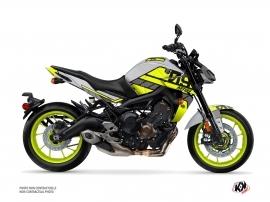Kit Déco Moto Player Yamaha MT 09 Jaune