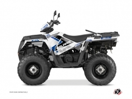 Polaris 570 Sportsman Touring ATV Vintage Graphic Kit Blue 60th Anniversary