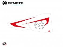 Graphic Kit Lower Half Doors BPZ7 CF Moto Zforce 500-550-800-1000 White