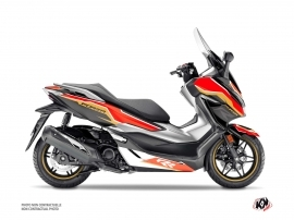 Honda Forza 125 Maxiscooter Run Graphic Kit Black