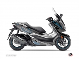 Honda Forza 125 Maxiscooter Challenge Graphic Kit Black