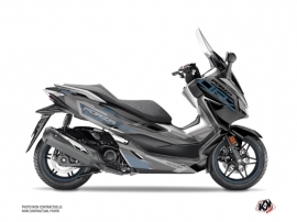 Honda Forza 300 Maxiscooter Challenge Graphic Kit Black