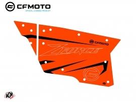 Kit Déco Portes Complètes PCZ17 CF Moto Zforce 500-550-800-1000 Orange