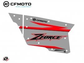 Kit Déco Portes Complètes PCZ19 CF Moto Zforce 500-550-800-1000 Gris