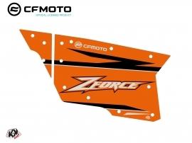 Kit Déco Portes Complètes PCZ19 CF Moto Zforce 500-550-800-1000 Orange