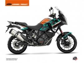 Kit Déco Moto Kontrol KTM 1290 Super Adventure S Orange Blanc