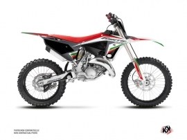 Fantic 125 XX Dirt Bike Mantova Graphic Kit Green