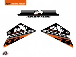 Graphic Kit Skid Plates Moto Kontrol KTM 790-890 Adventure Orange White