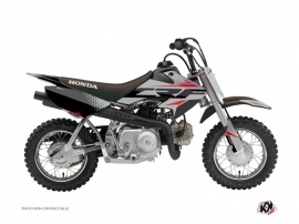 Honda 50 CRF Dirt Bike Nasting Graphic Kit Grey Red