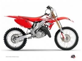Kit Déco Moto Cross Nasting Honda 125 CR Blanc Rouge