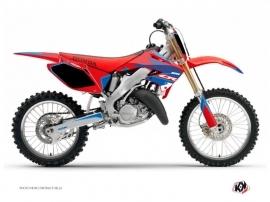 Kit Déco Moto Cross Dyna Honda 125 CR Bleu