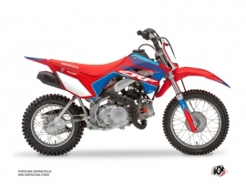Honda 110F CRF Dirt Bike Dyna Graphic Kit Blue