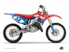 Honda 125 CR Dirt Bike Rask Graphic Kit Blue