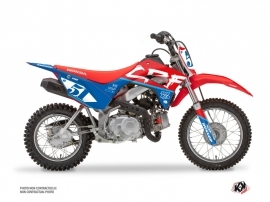 Honda 110F CRF Dirt Bike Rask Graphic Kit Blue