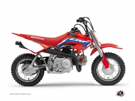 Honda 50 CRF Dirt Bike Works Graphic Kit Blue