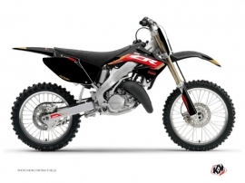 Honda 125 CR Dirt Bike Works Graphic Kit Black